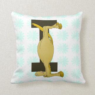 Monogram Letter I Pony Personalised Throw Pillow