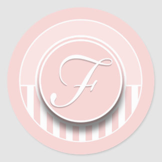 Monogram Letter Initial F Sticker Seal Label