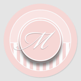 Monogram Letter Initial M Sticker Seal Label