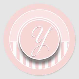 Monogram Letter Initial Y Sticker Seal Label