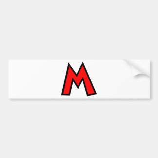 Monogram Letter M Bumper Sticker