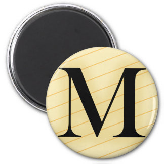 Monogram Letter - M (orange) Magnet
