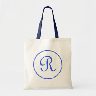 Monogram letter R tote bag