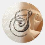 Monogram Letter S 2009  Wedding Envelope Seal Round Sticker