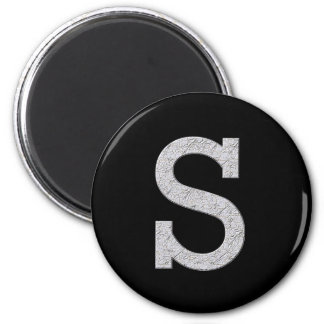 Monogram Letter S Refrigerator Magnets