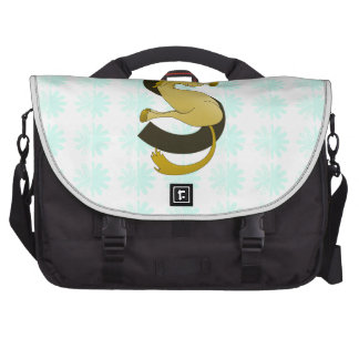 Monogram  Letter S Pony Distressed Flower Pattern Bag For Laptop