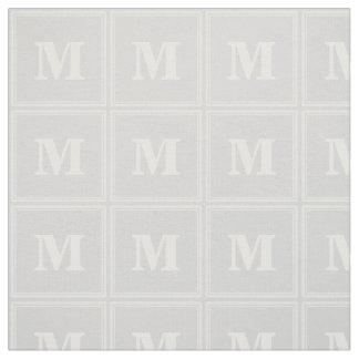 Monogram light grey stripes fabric