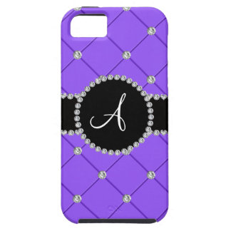 Monogram light purple tuft diamonds iPhone 5 case