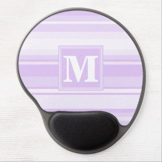 Monogram lilac stripes gel mouse pad