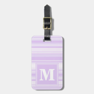 Monogram lilac stripes luggage tag