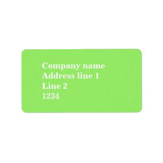 Monogram lime green stripes address label