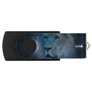 Monogram Lion King USB Swivel Flash Drive