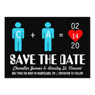 Monogram Love Couple Save the Date Cards 13 Cm X 18 Cm Invitation Card