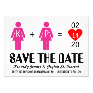 Monogram Love Couple Save the Date Cards