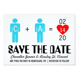 Monogram Love Couple Save the Date Cards Personalized Invitations