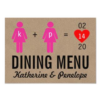 Monogram Love Couple Wedding Menu Cards 11 Cm X 16 Cm Invitation Card