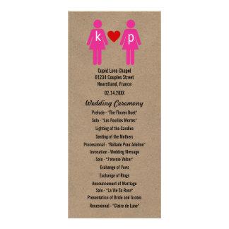Monogram Love Couple Wedding Programs Customised Rack Card