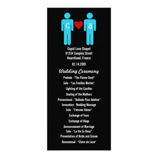 Monogram Love Couple Wedding Programs Rack Card