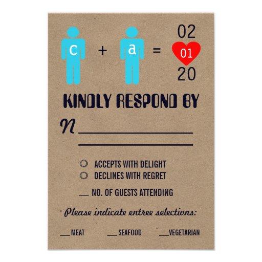 Monogram Love Couple Wedding RSVP Cards