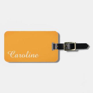 Monogram Luggage Tag - Name Tag, Luxury Gold