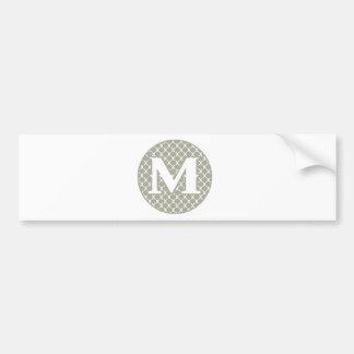 Monogram M Bumper Sticker