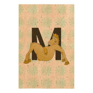 Monogram M Cartoon Pony Personalised Queork Photo Prints