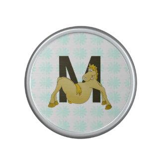 Monogram M Cartoon Pony Personalised Speaker