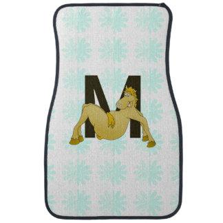 Monogram M Flexible Horse Personalised Floor Mat