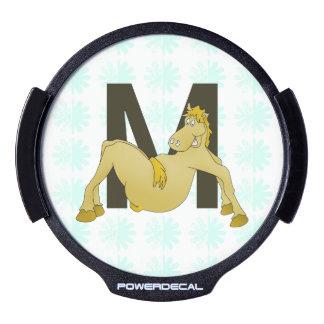 Monogram M Flexible Horse Personalised LED Car Window Decal