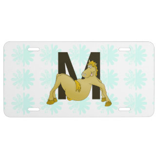 Monogram M Flexible Horse Personalised License Plate