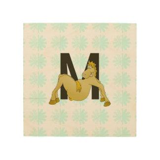Monogram M Flexible Horse Personalised Wood Prints