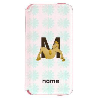 Monogram M Funny Pony Personalised Incipio Watson™ iPhone 6 Wallet Case