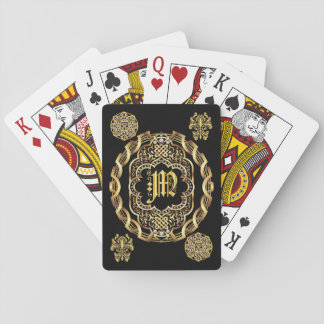 Monogram M IMPORTANT Read About Design Playing Cards
