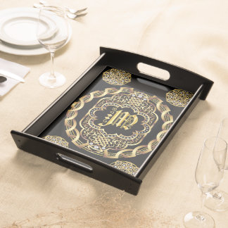 Monogram M IMPORTANT Read About Design Service Tray
