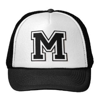 """Monogram """"M"""" Initial Mesh Hat"""