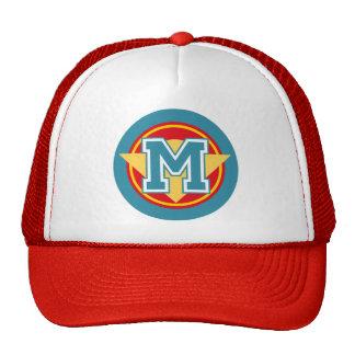 """Monogram """"M"""" initial Mesh Hats"""