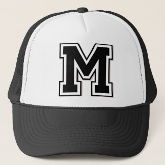 "Monogram ""M"" Initial Trucker Hat"