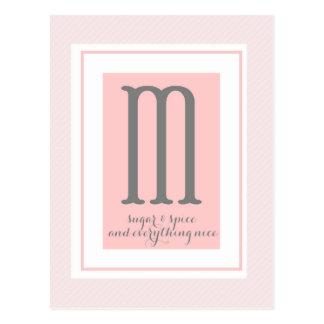 Monogram - M Postcard