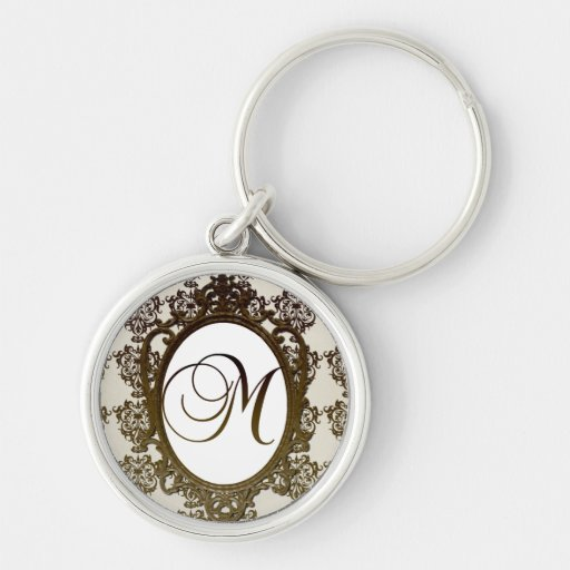 Monogram M Wedding Favor Key Chains
