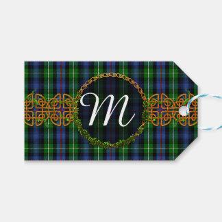 Monogram MacKenzie Tartan Gift Tags