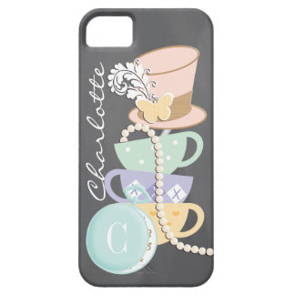 Monogram Mad Hatter Teacups and Hat iPhone 5 Case
