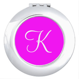 Monogram Magenta Upscale Color Matched Travel Mirror