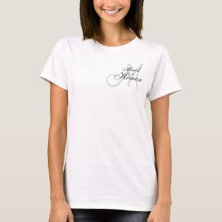 Monogram Maid of Honor Wedding T--Shirt T-Shirt