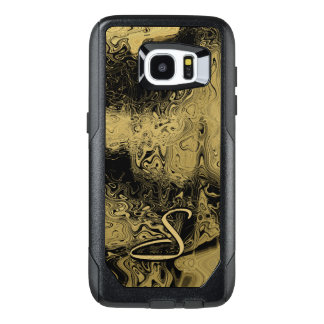 Monogram Marbled Gold OtterBox Samsung Galaxy S7 Edge Case