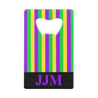 Monogram Mardi Gras Green, Yellow, Purple Striped