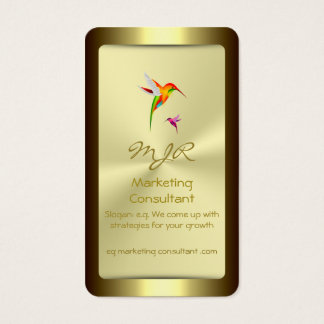Monogram, Marketing Consultant, gold standard Business Card
