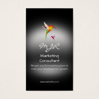 Monogram, Marketing Consultant, metal-look Business Card