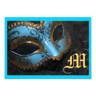 "Monogram Masqurade Renaissance Wedding Invitation 5"" X 7"" Invitation Card"