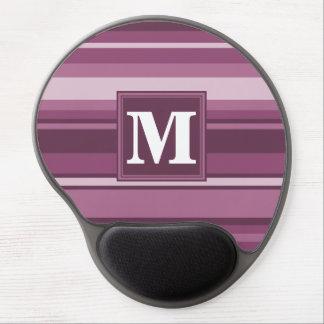Monogram mauve stripes gel mouse pad
