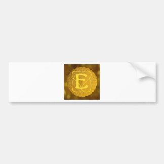 monogram - medallion bumper sticker